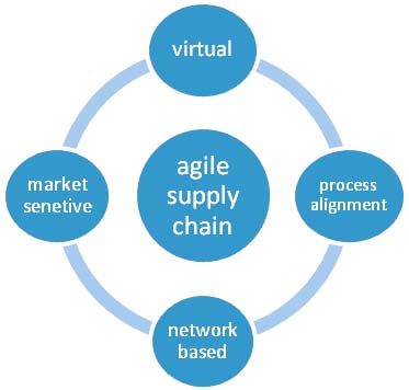 Figure 1: Agile supply chain dimensions adopted from (Christopher, 2000